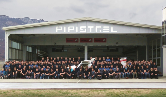 Pipistrel Team by the aircraft no.1000