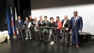 All the award recipients at the municipality event
