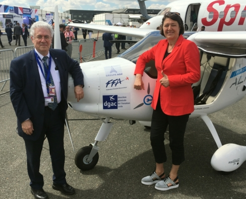 President of DGAC Mr. Patrick Gandil with Mrs. Violeta Bulc