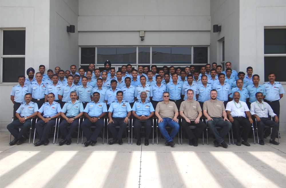 Technicians after completion of training