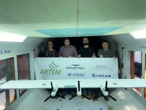 The PVS crew in the INCAS wind tunnel