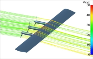 example of a CFD simulation for a tractor configuration