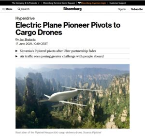 Article about Pipistrel by Bloomberg