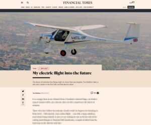 Financial Times - My electric flight into the future