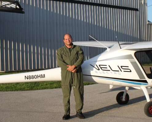 First Velis Electro flies in the USA